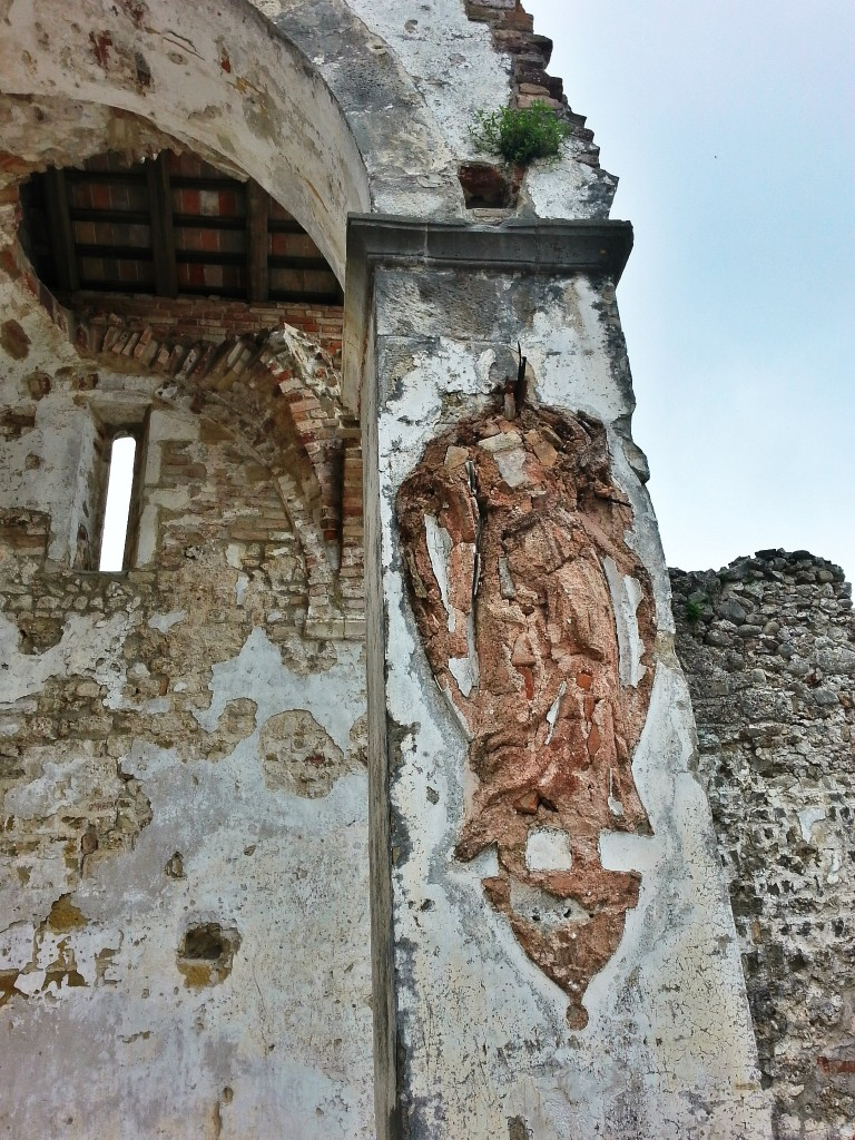 Remains of a statue at the abbey