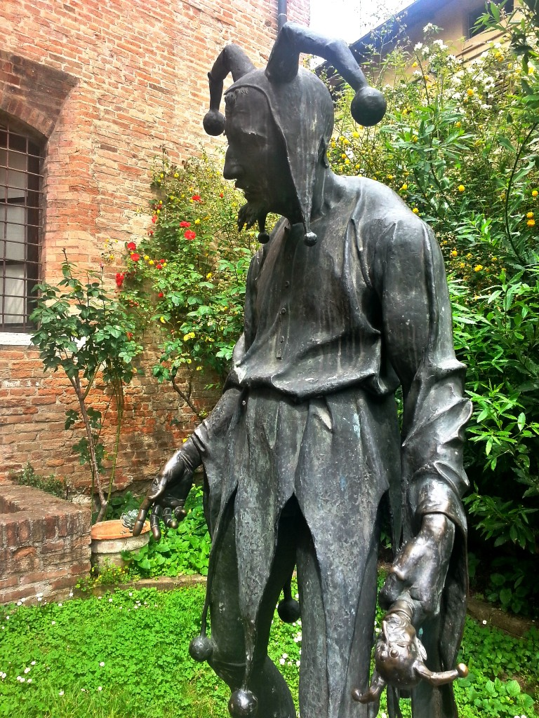 Tragic Rigoletto in the garden of his house in Mantova