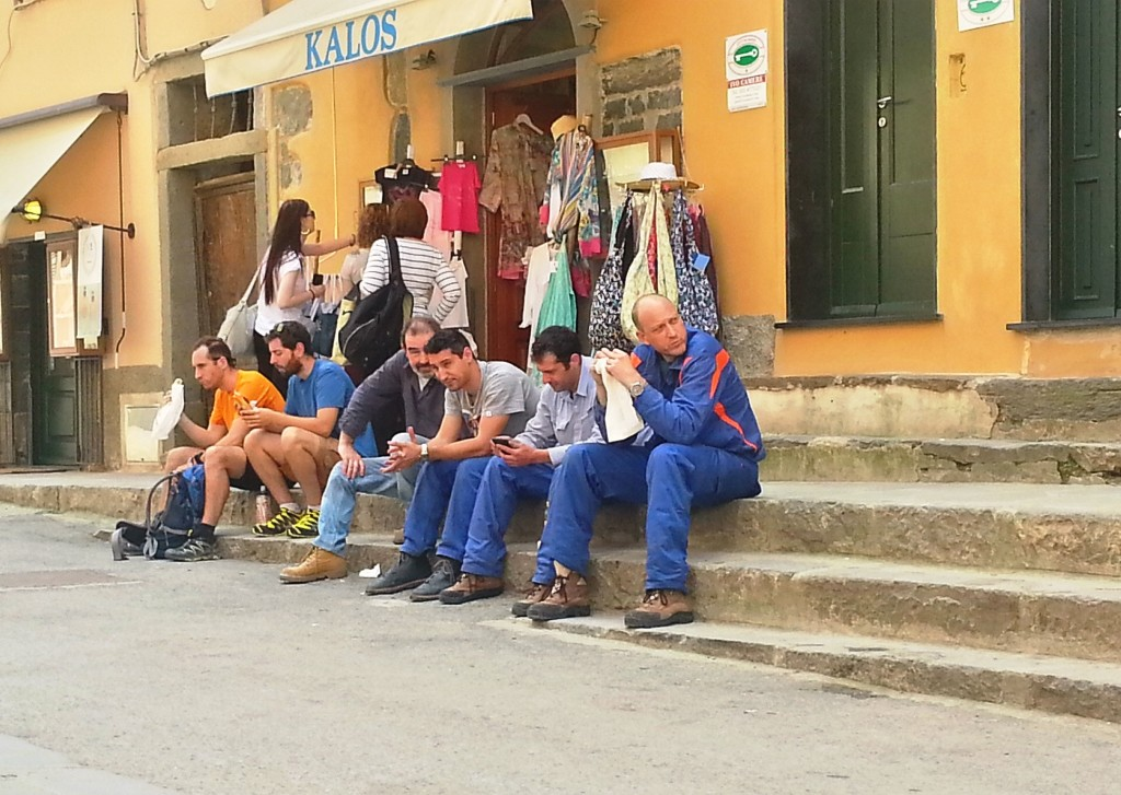 Men at work in Vernazza