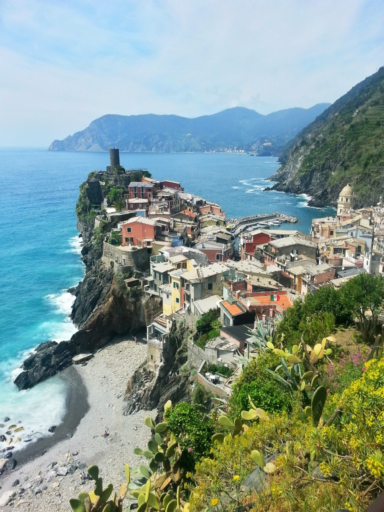 Vernazza (and the secret beach!) seen from above