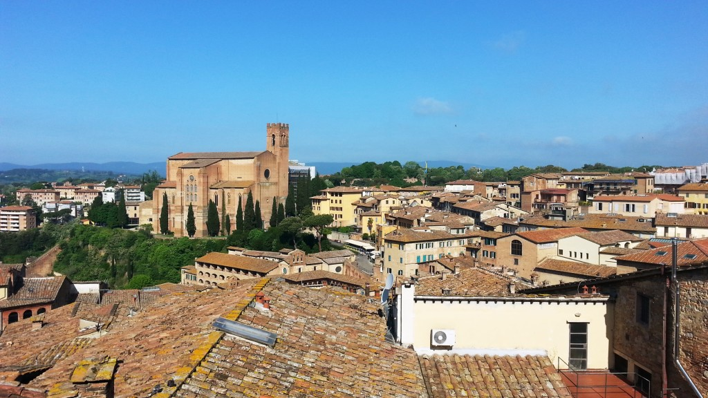 The Church of San Domenico from our balcony