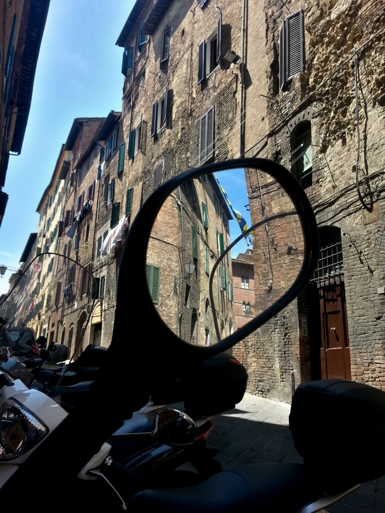 Scooters are the only feasible mode of transport in Siena