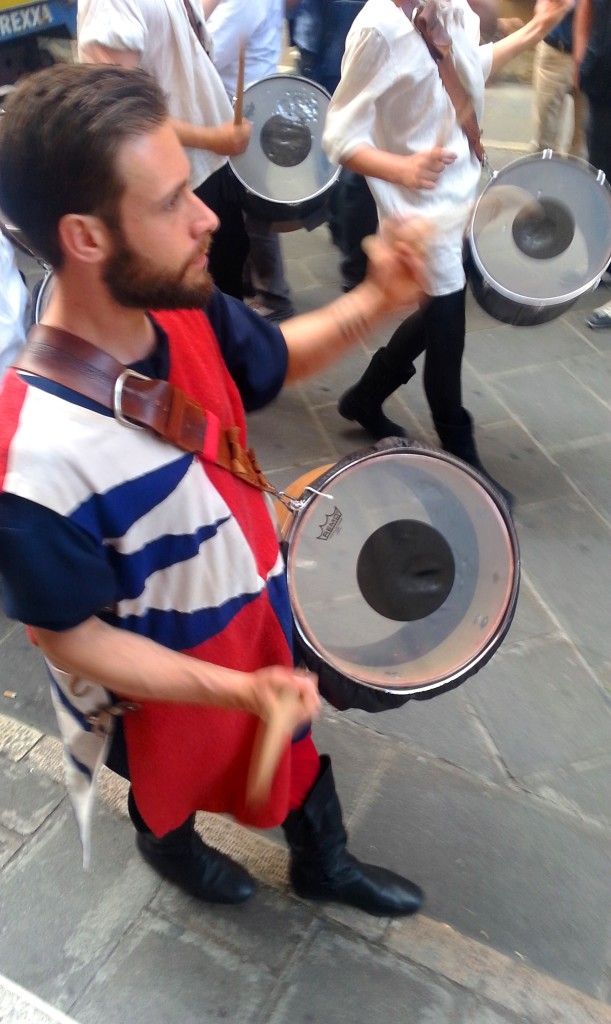 The drummers in the procession sent chills down my spine with their beating