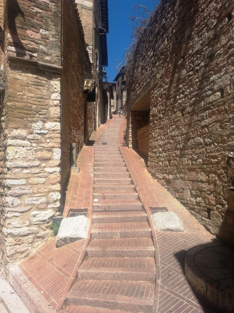 All of Assisi is up and down hill
