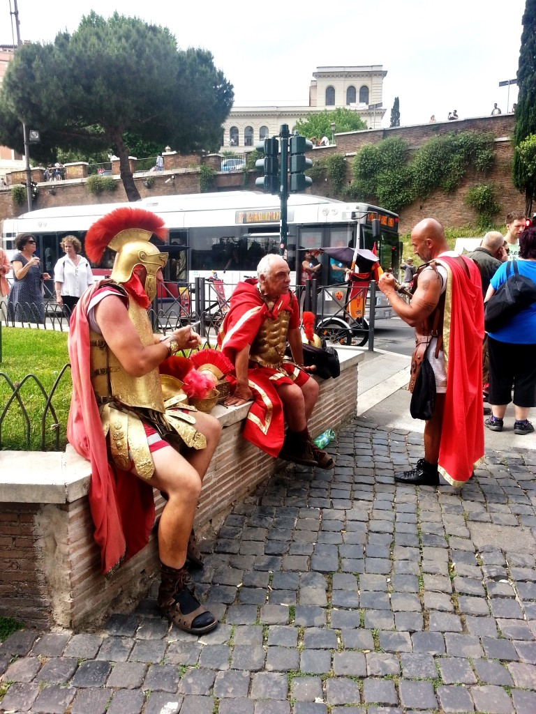 Where would the poor Roman soldiers be without tourists?