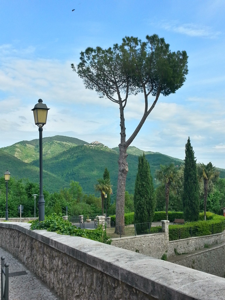 View from the village into the hills of Lazio