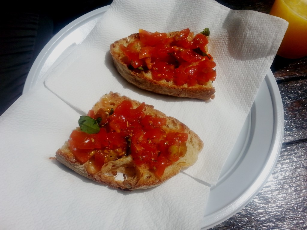 Fresh home-made bruschetta