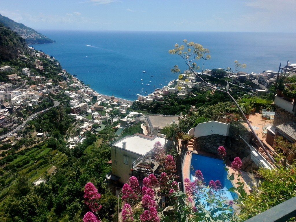Positano from above...