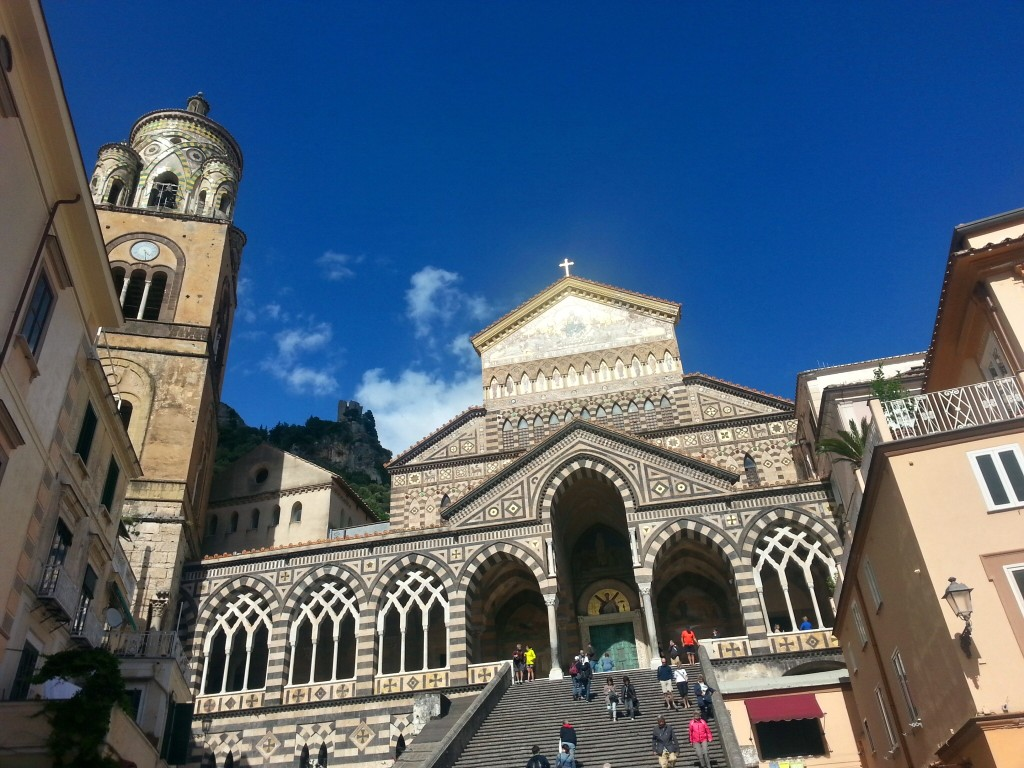 Magnificent church in Amalfi... Looks somewhat Moorish to me