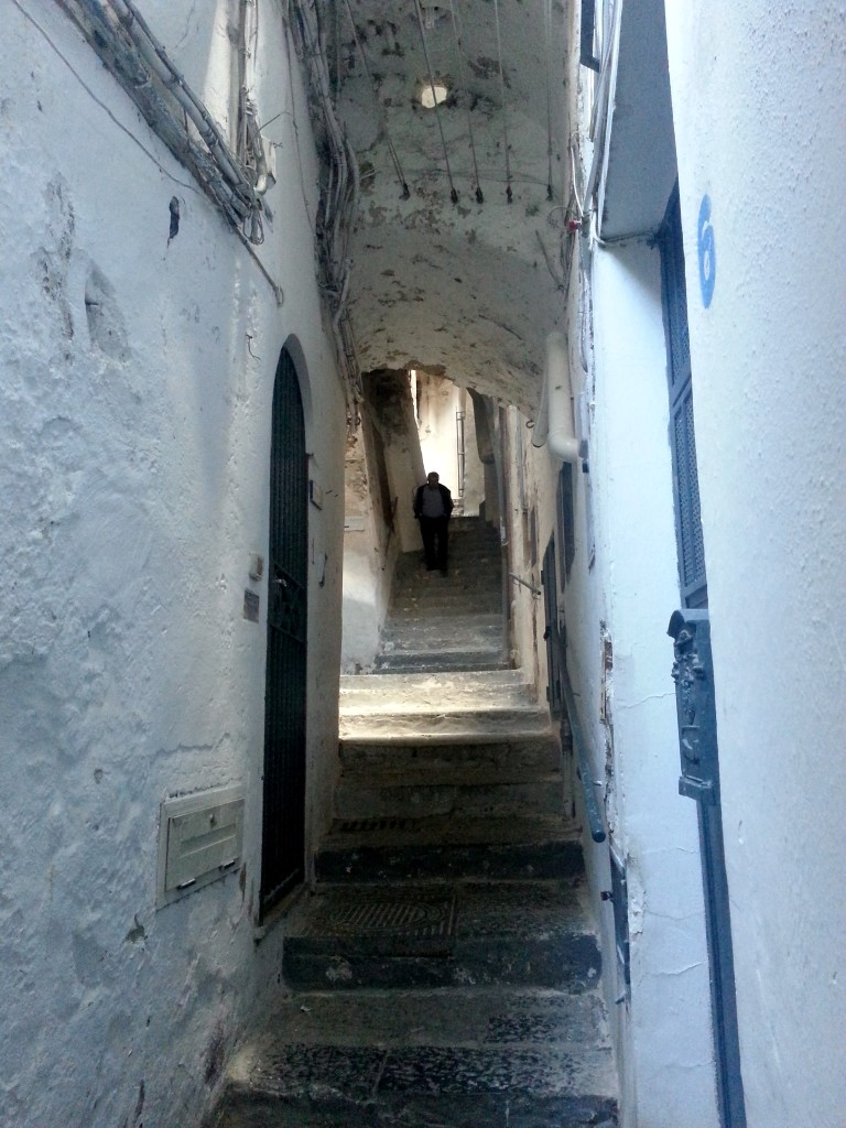 Just one street of the main tourist trail, and Amalfi looks like this
