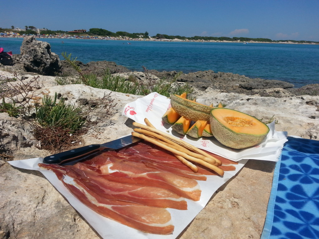 Picnic at Punta Prosciutto, which happened to be one of the best beaches in Europe.